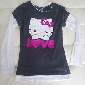 Juniors Hello Kitty Long Sleeved Tee - Med